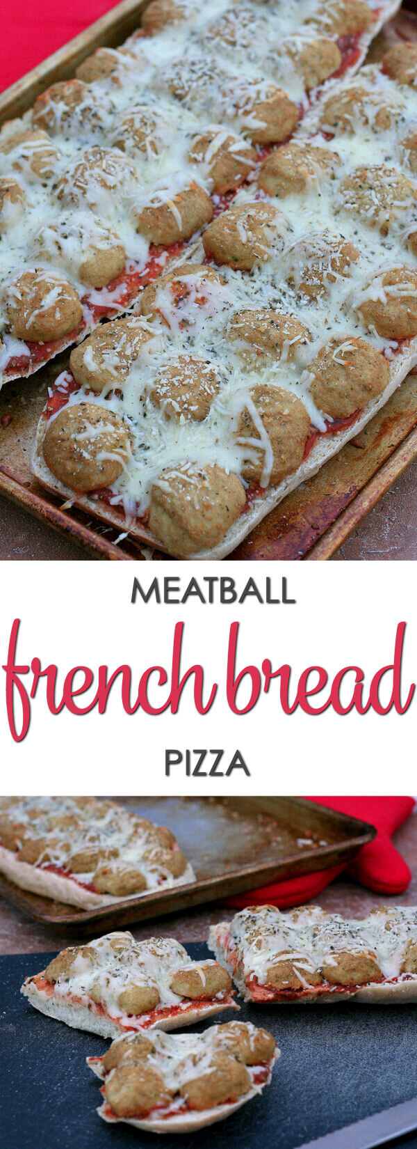 Meatball French Bread Pizza - this easy dinner recipe is a family favorite