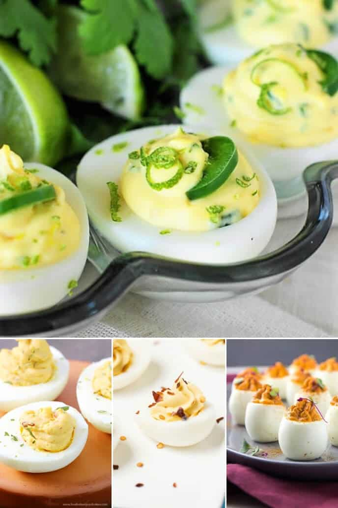 A collection of spicy deviled egg recipes