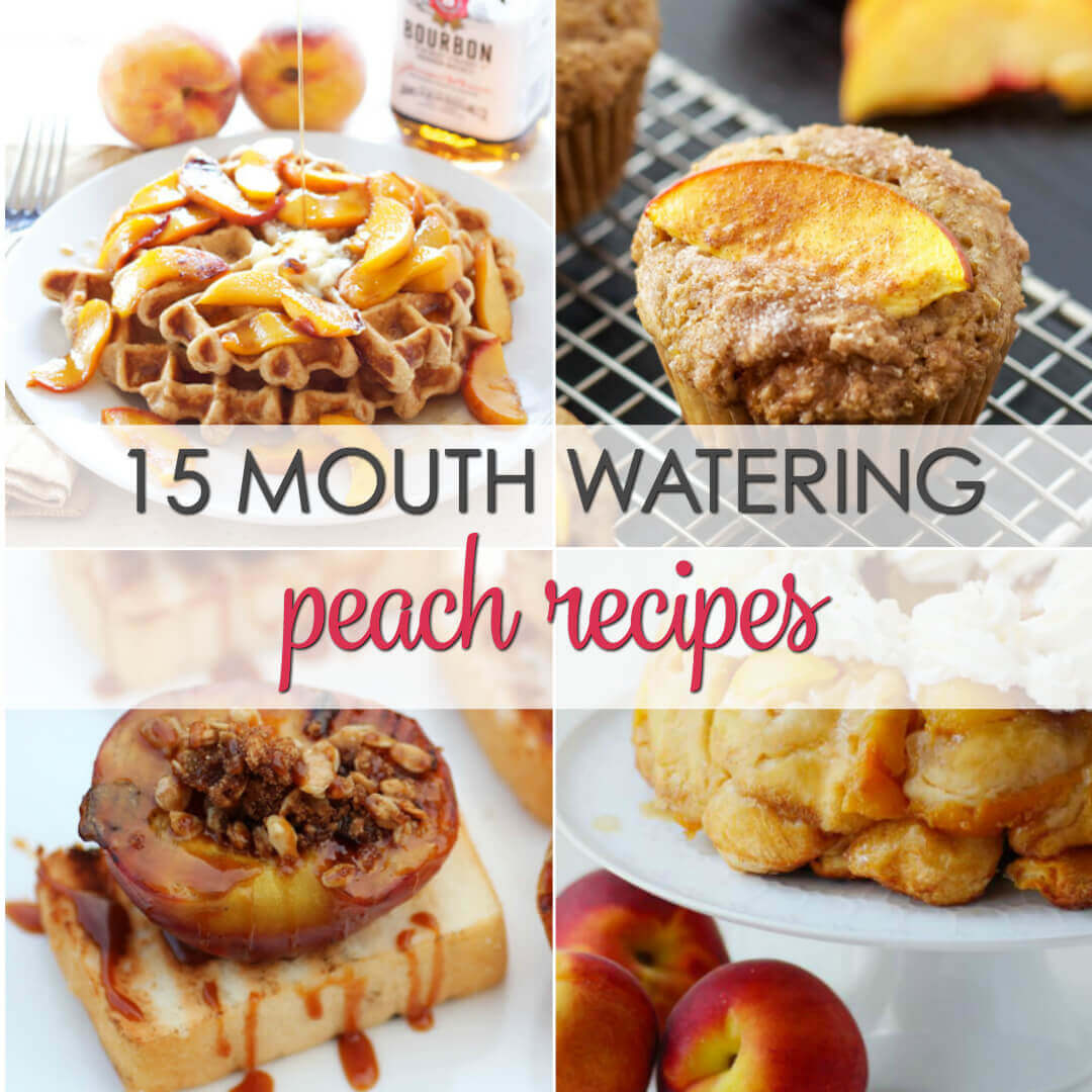 Don't let those fresh peaches go to waste.  Here are 15 fresh Peaches recipes that will please any crowd.
