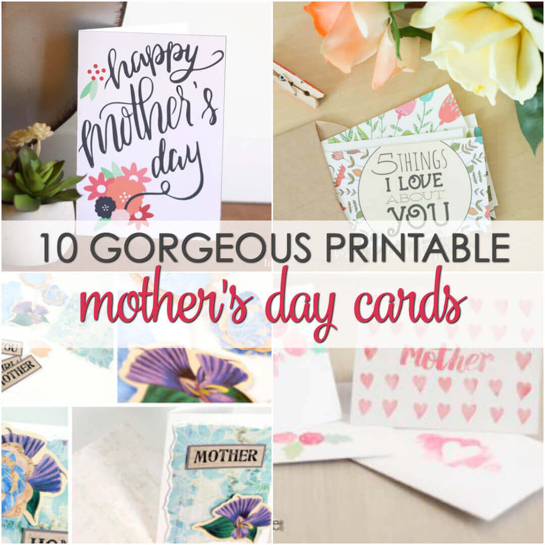 10 Free Mother's Day Card Printables | It Is a Keeper