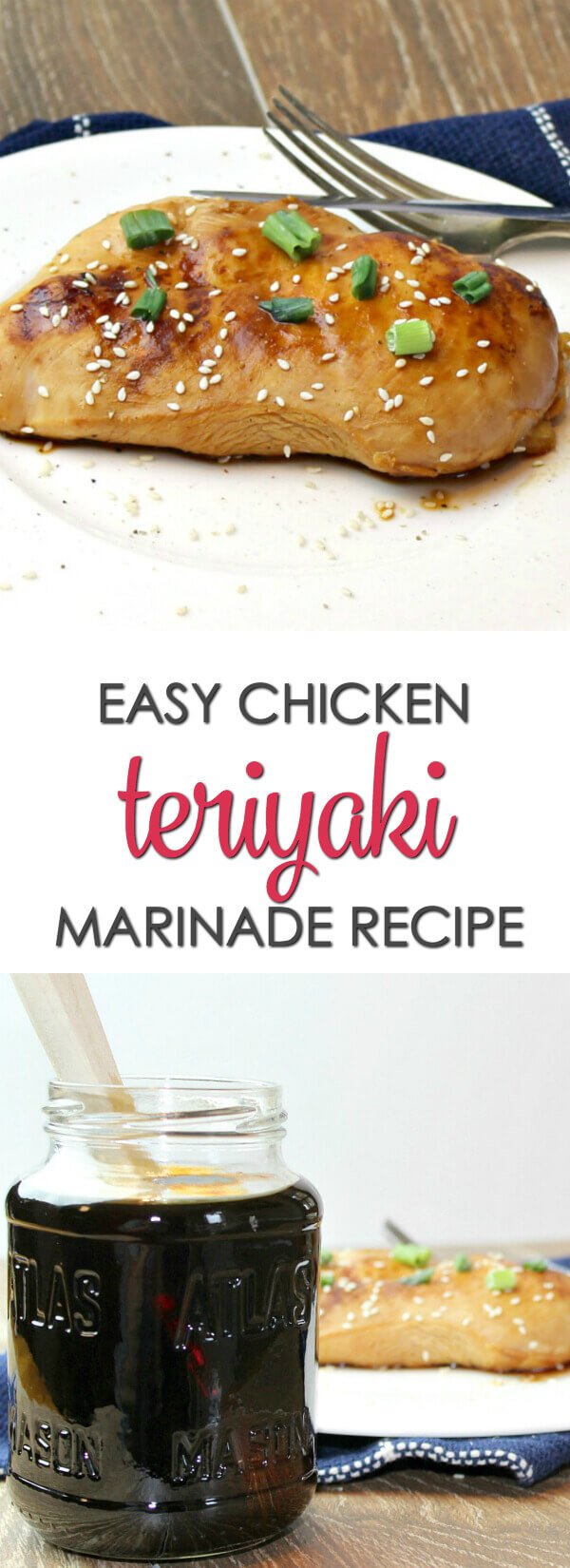 Chicken Teriyaki Marinade Recipe - this easy teriyaki sauce marinade recipe packs a ton of flavor