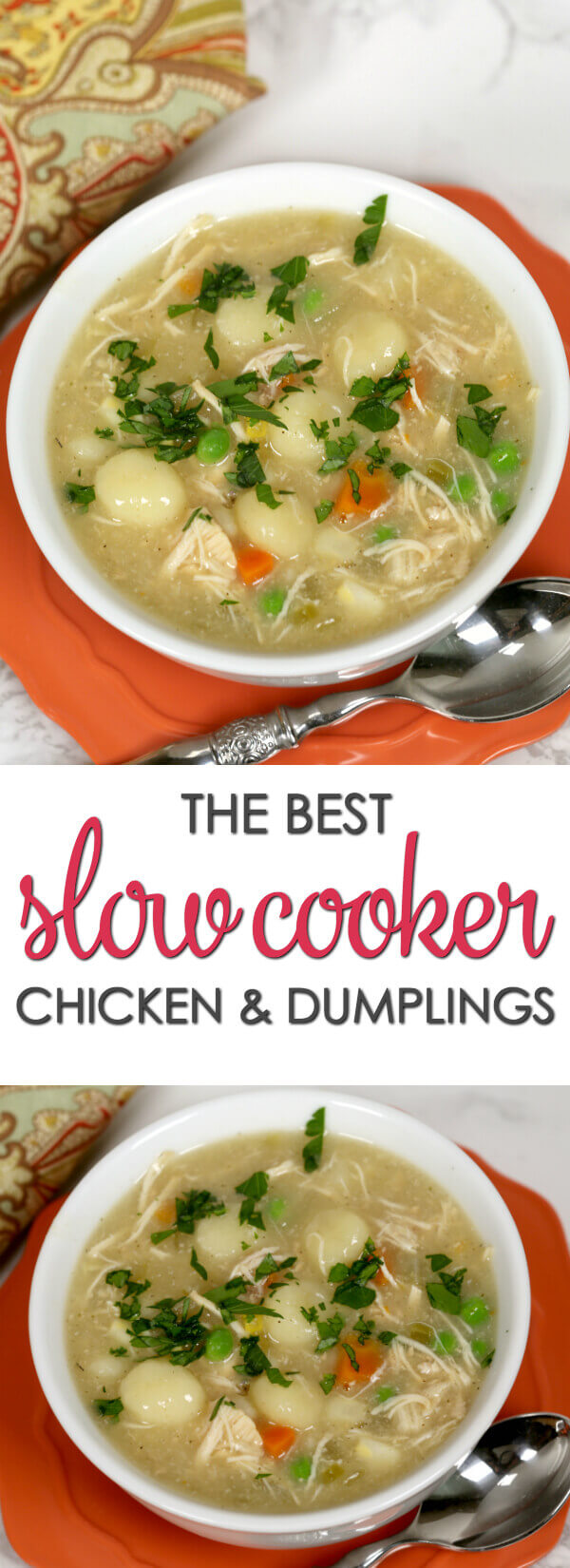 Slow Cooker Chicken and Dumplings - this is one of the best crock pot recipes for chicken