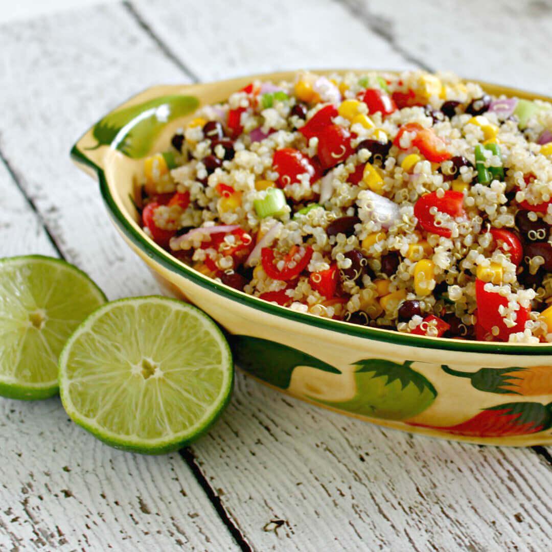 Southwest Quinoa Salad - this one of my favorite easy quinoa salad recipes