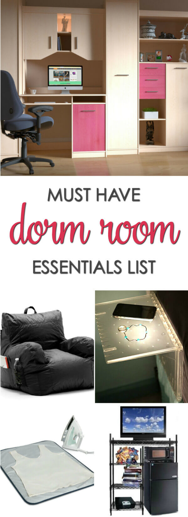 Must Have Dorm Room Essentials List