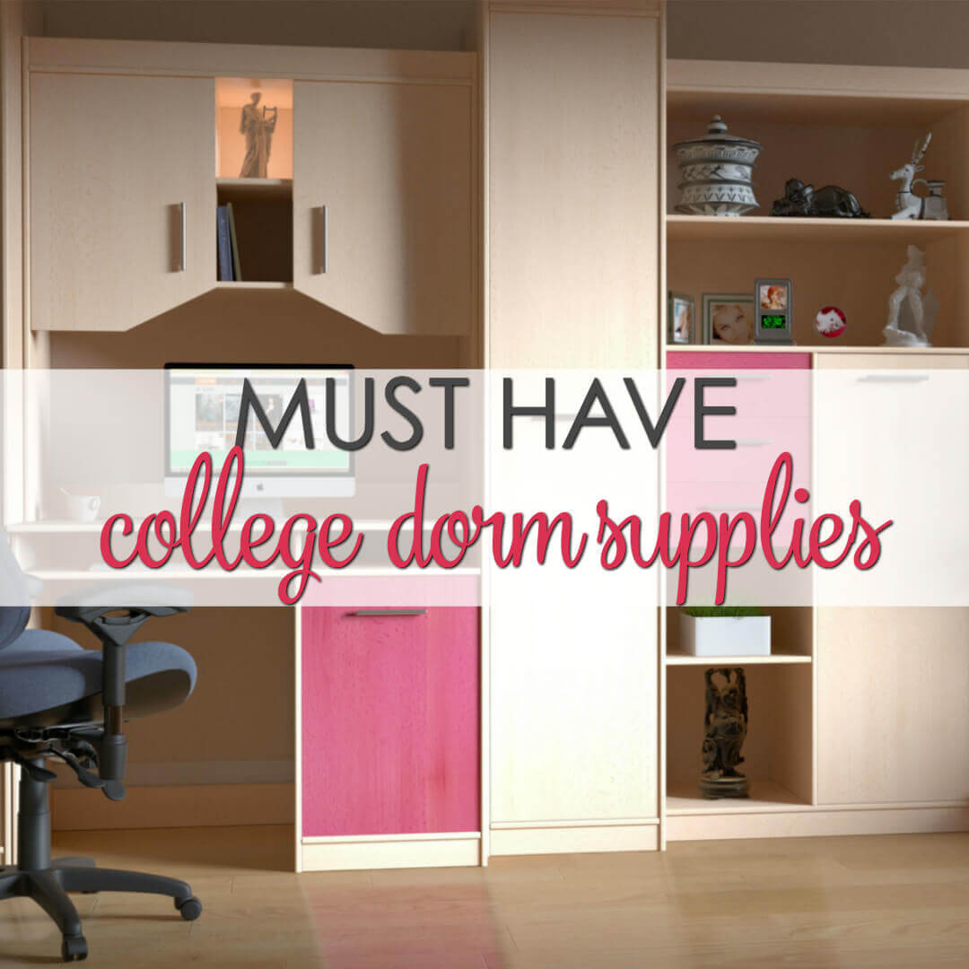 Must Have Dorm Room Essentials List - a great list of innovative and fun college dorm supplies