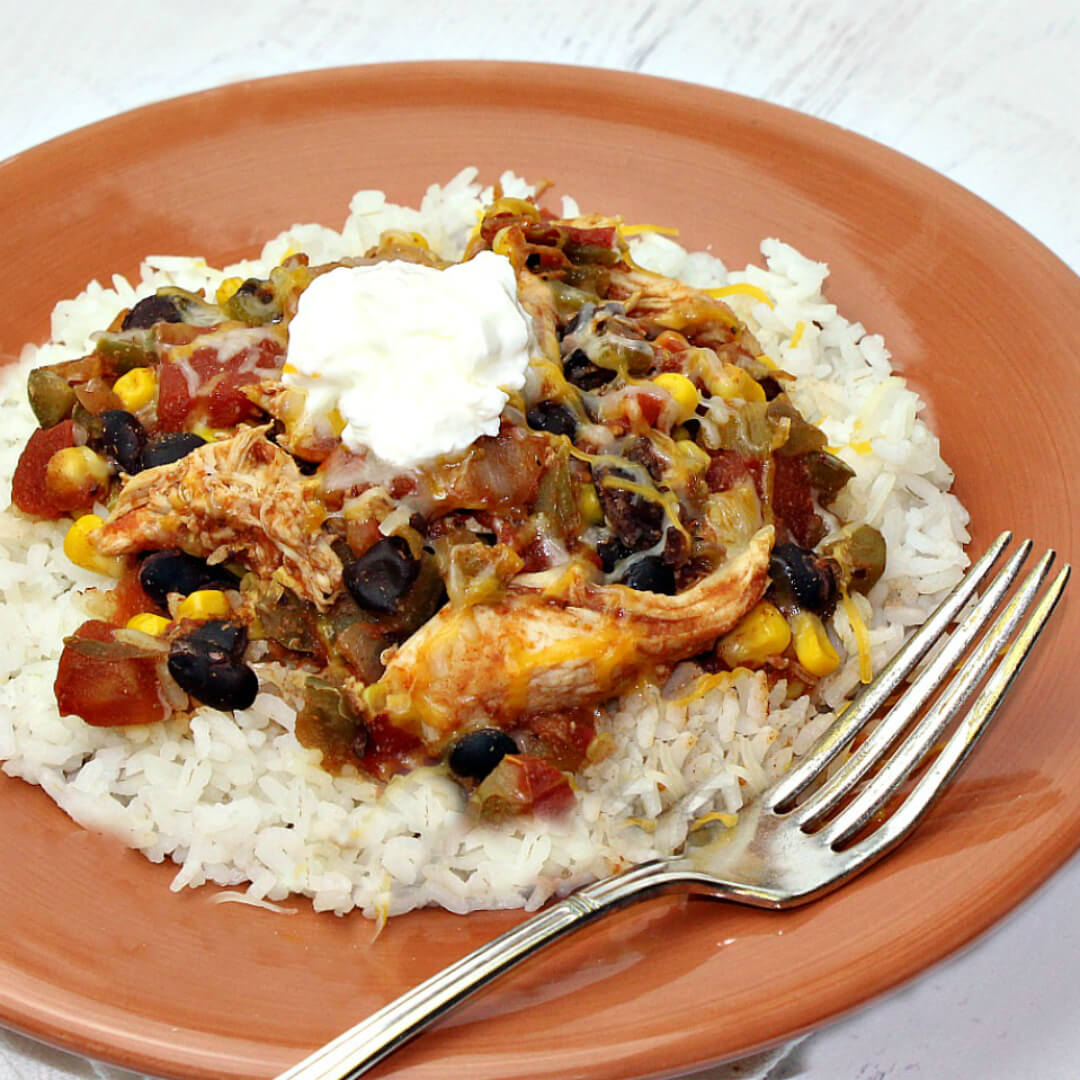 Crock Pot Tex Mex Chicken - this easy recipe is one of the best slow cooker recipes of all time