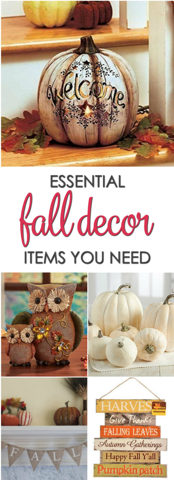 Must have decor to get your home ready for fall