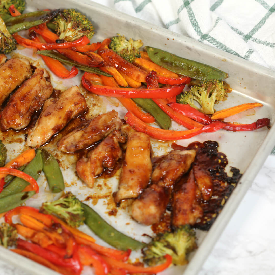 Sheet Pan Korean Chicken Dinner - this is one of my favorite easy sheet pan chicken dinners