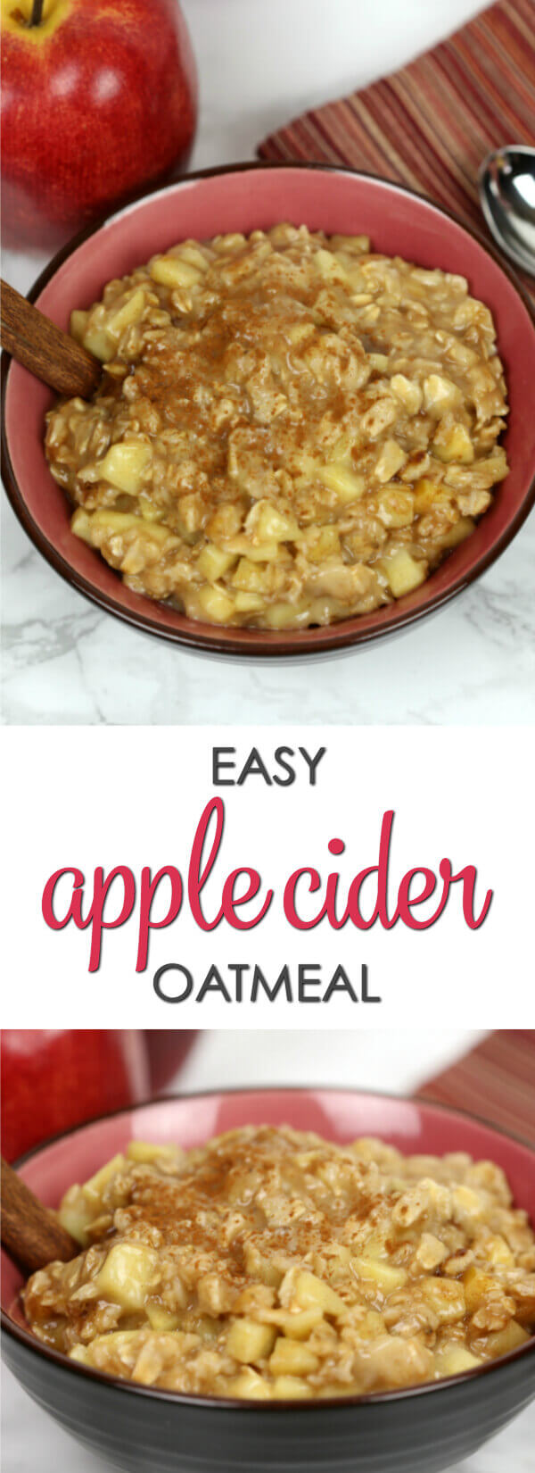 Apple Cider Oatmeal - this wholesome breakfast recipe is easy to make and perfect for chilly mornings
