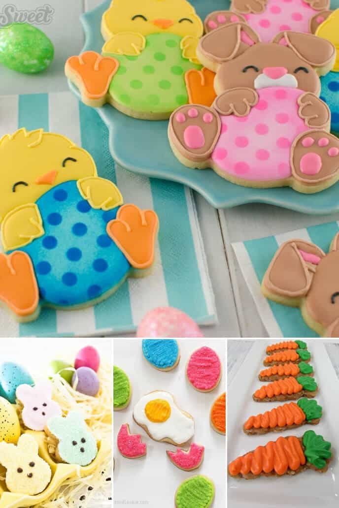 A collection of easter cookies