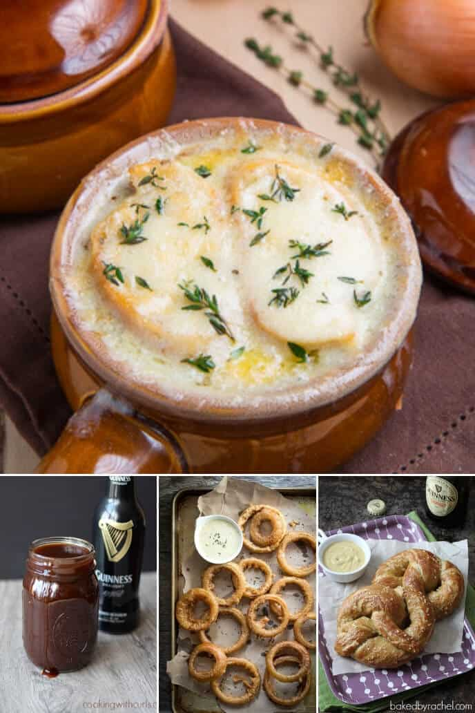 A collection of Irish appetizer recipes with Guinness Stout