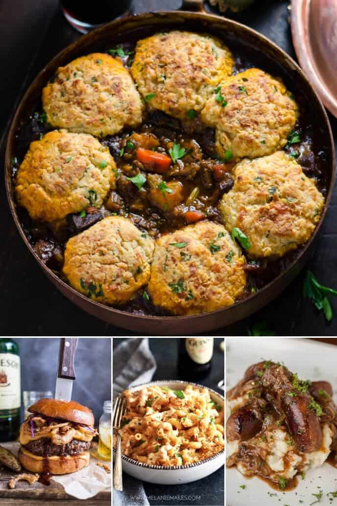 A collection of Irish beef stew recipes with Guinness Stout