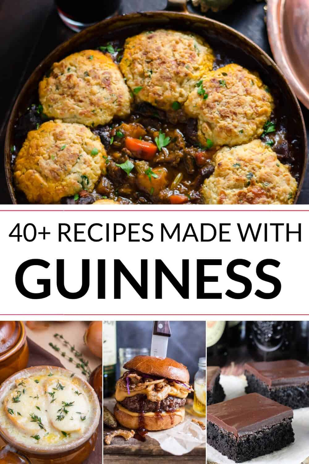 A collection of Irish recipes with Guinness Stout