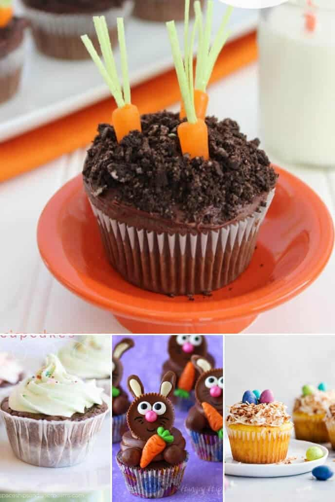 A collection of Easter ideas for cupcakes