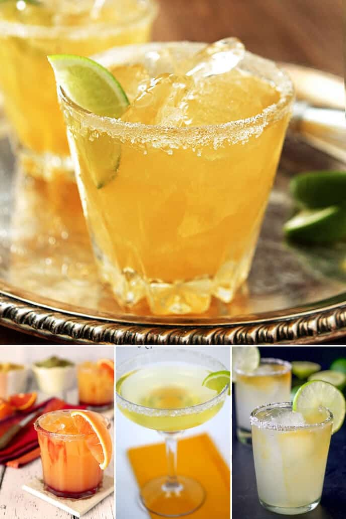 A collection of classic margarita recipe