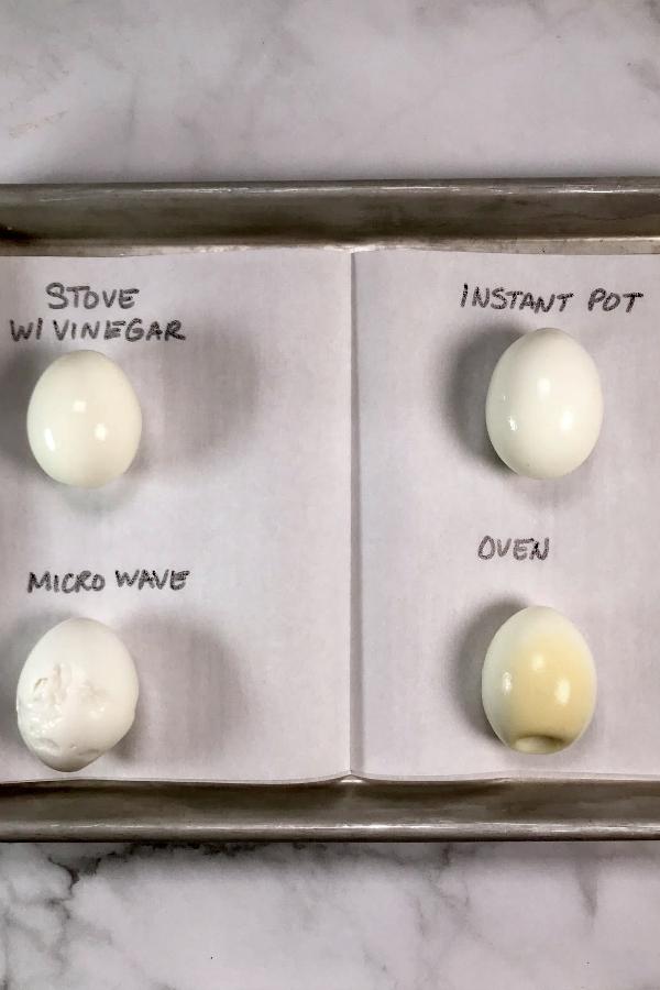 Cook hard boiled egg