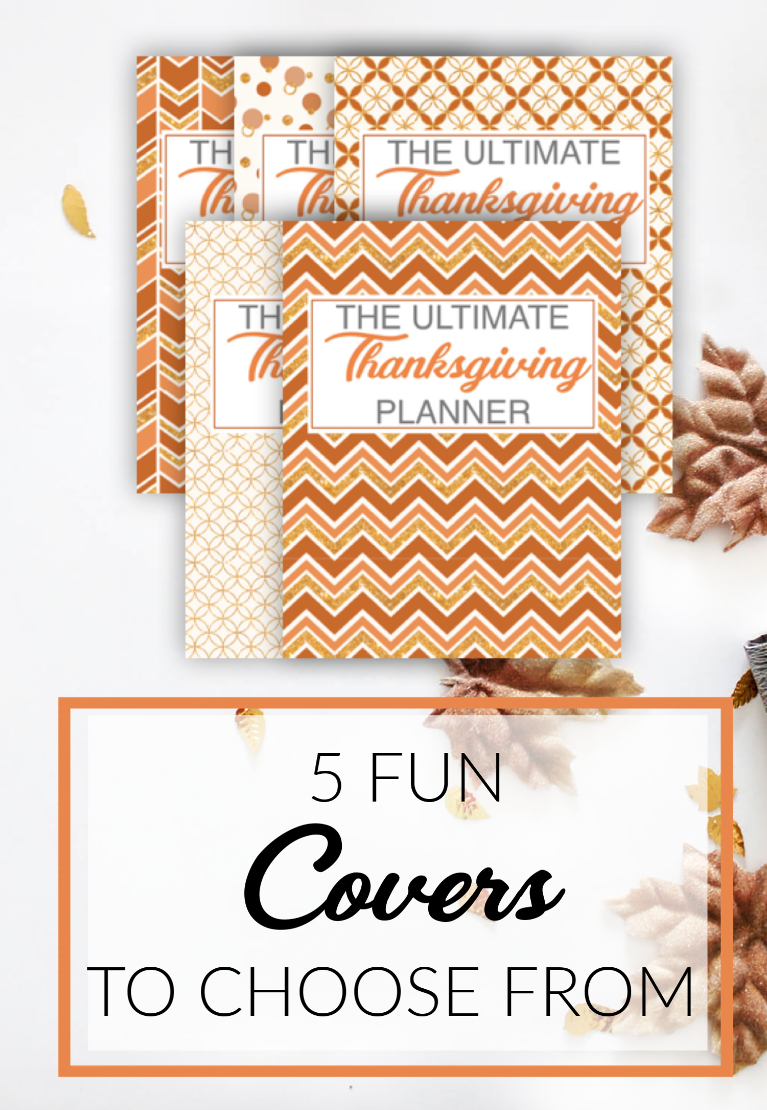 THANKSGIVING DAY PRINTABLE PLANNER COVER IMAGES