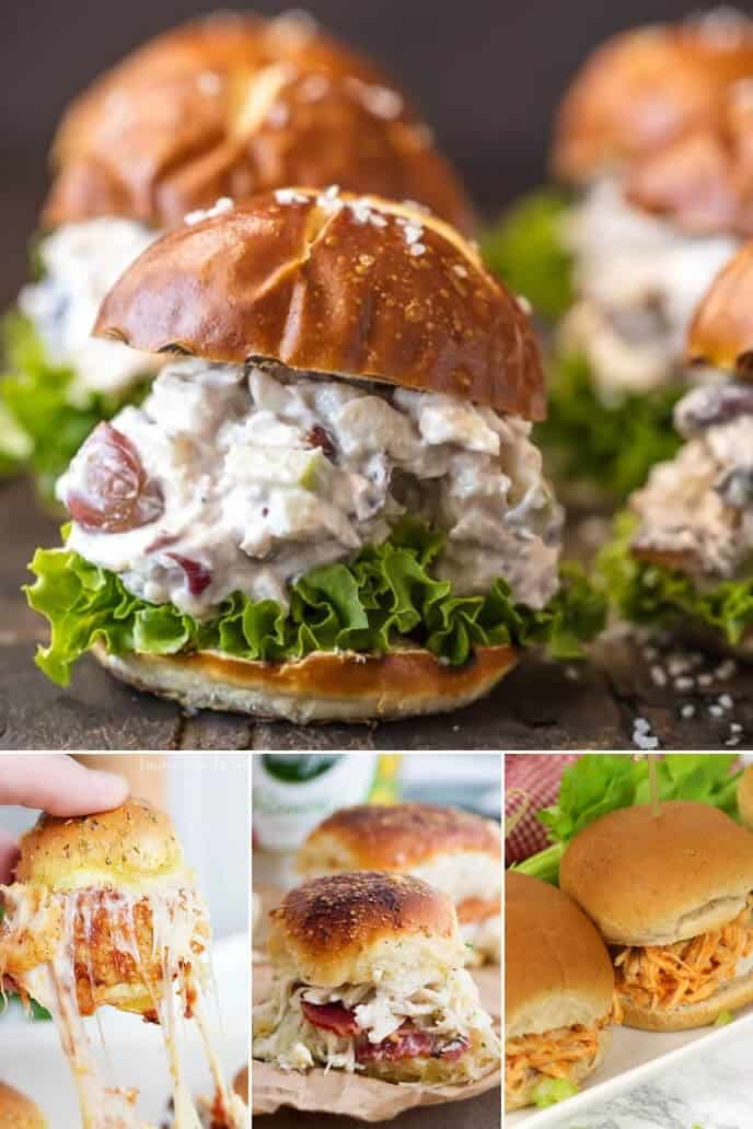 A collection of chicken sliders