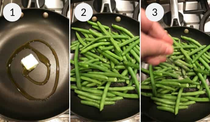 step by step instructions for making parmesan green beans