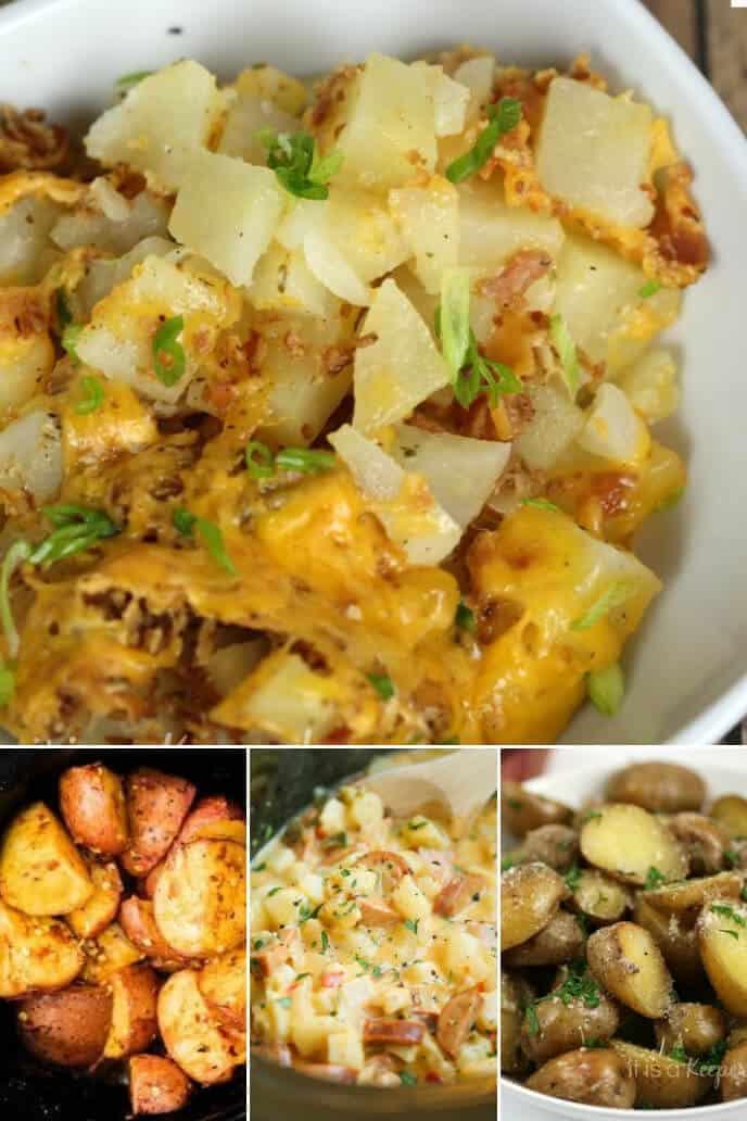 A collection of crock pot potatoes