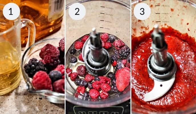 Step by step instructions for making this berry smoothie