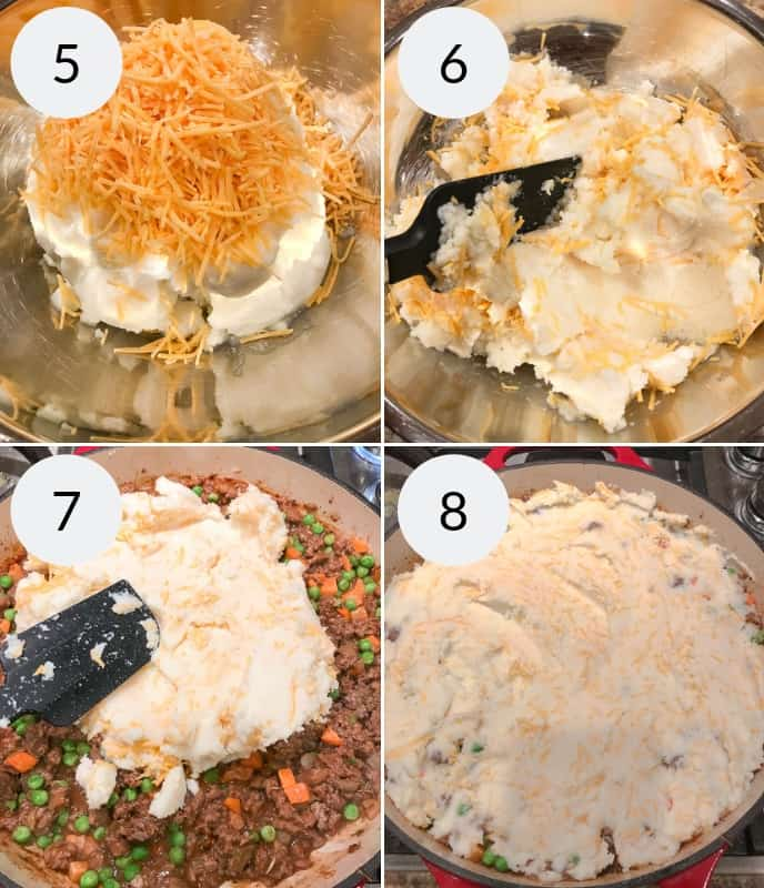 Step by step instructions for making shepherds pie