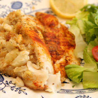 Special AND Simple: Crab Stuffed Tilapia