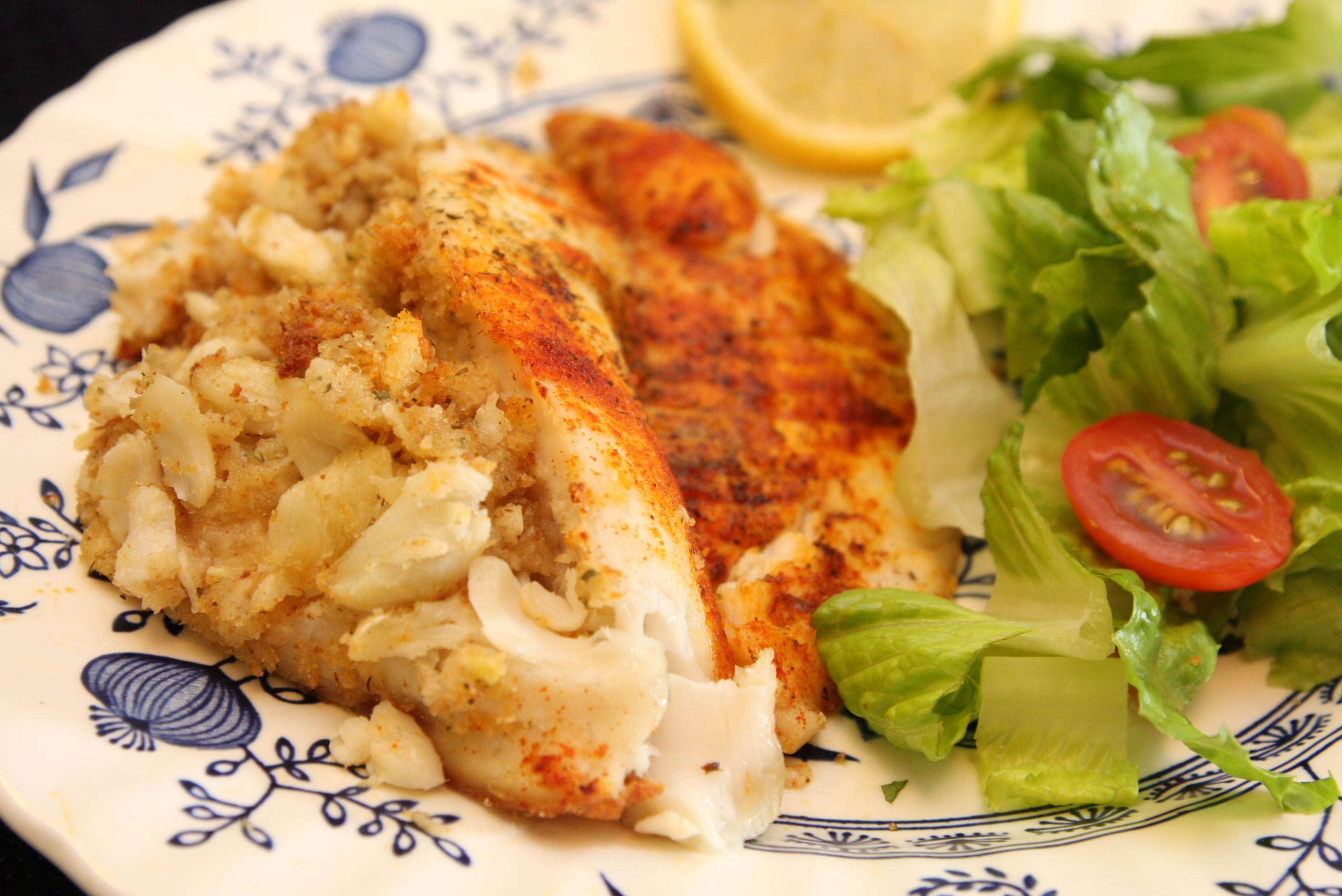 Special and simple crab stuffed tilapia it is a keeper for Stuffed fish recipes
