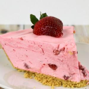 Strawberry Chiffon Pie Dessert No Bake Recipes - It Is a Keeper