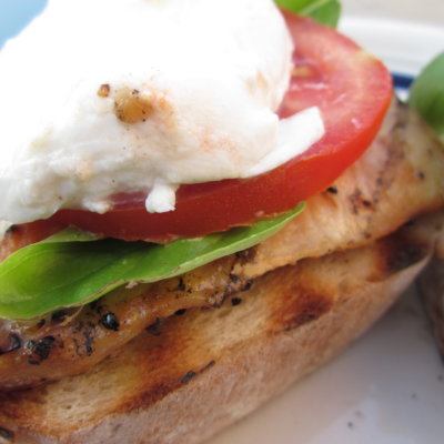 Open Faced Chicken Caprese Sandwiches