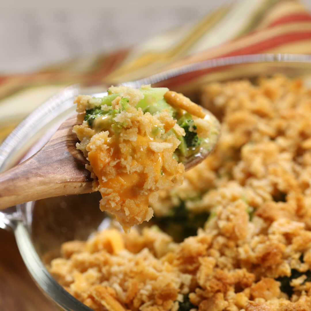 This Easy Broccoli Casserole recipe is easy to make and always a crowd pleaser!