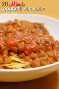 Spaghetti with Lentils - this easy recipe is ready in 20 minutes