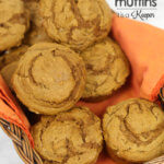 3 Ingredient Pumpkin Muffins - this easy dessert recipe is super simple to make