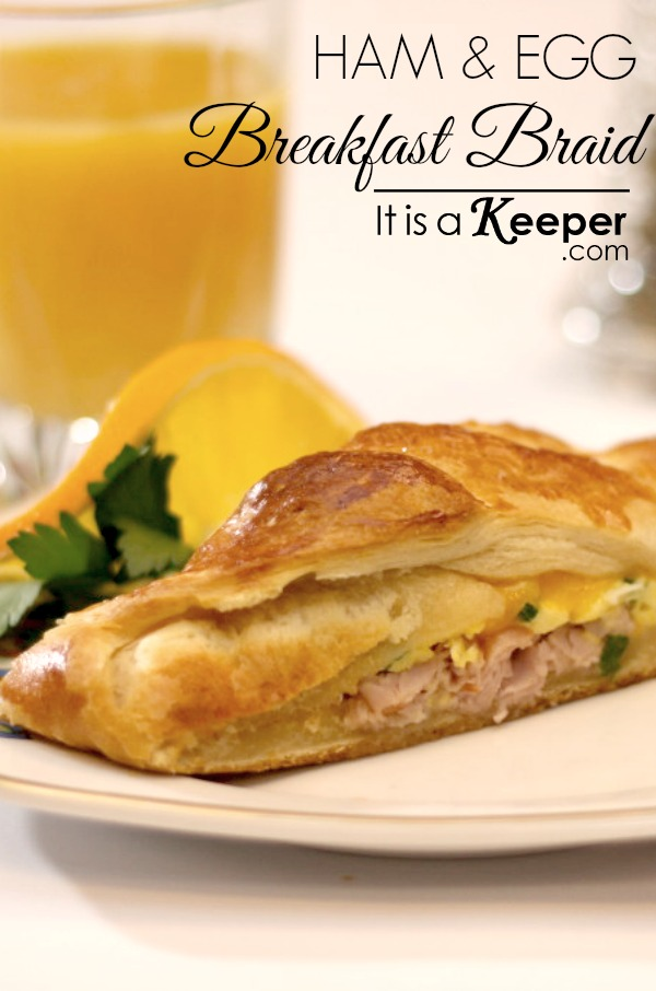 Christmas breakfast menu ham and egg breakfast braid - it is a keeper