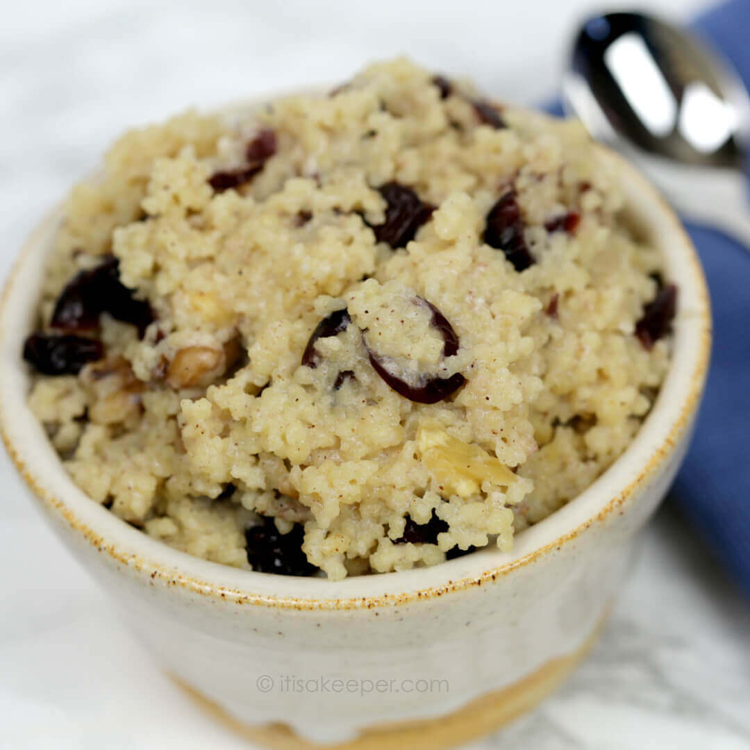 Breakfast Couscous - this quick and easy breakfast recipe is warm, hearty and filling