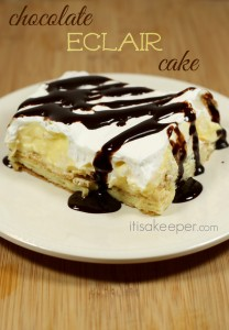 chocolate eclair cake from it's a keeper