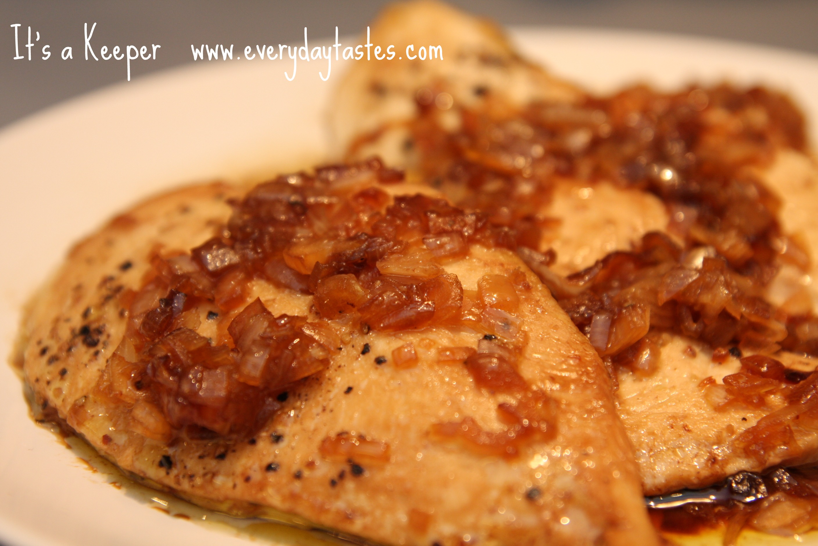 Roast Chicken with Carmelized Shallots