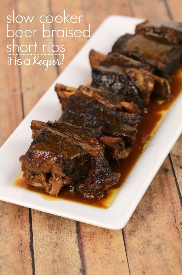 Slow cooker beer braised short ribs it is a keeper slow cooker beer braised short ribs this easy crock pot recipe is one of my forumfinder Choice Image