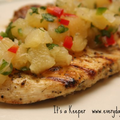 Garlic Lime Chicken with Pineapple-Jalapeno Salsa