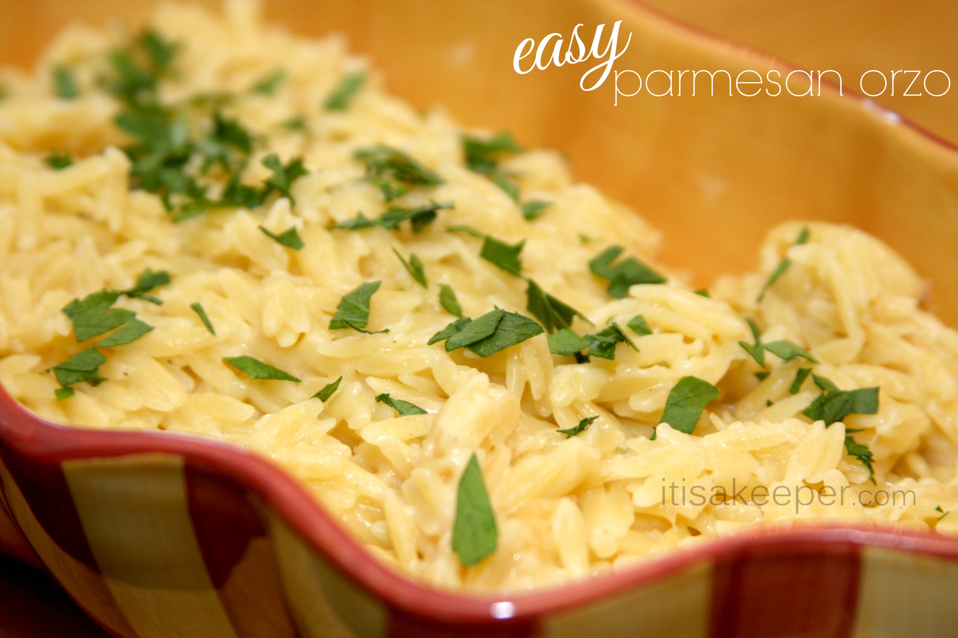Easy Side Dishes: Easy Parmesan Orzo