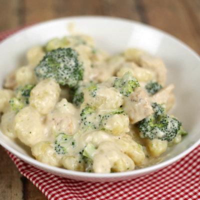 Gnocchi and Parmesan Garlic Sauce