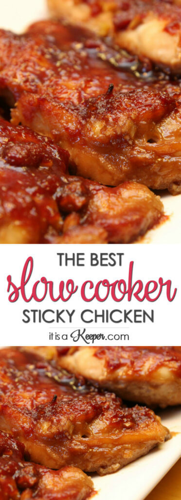 Crock Pot Sticky Chicken An Easy Slow Cooker Recipe