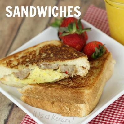 These easy Cowboy Breakfast Sandwiches are an easy breakfast idea