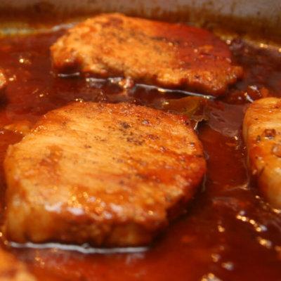 Drunken Pork Chops