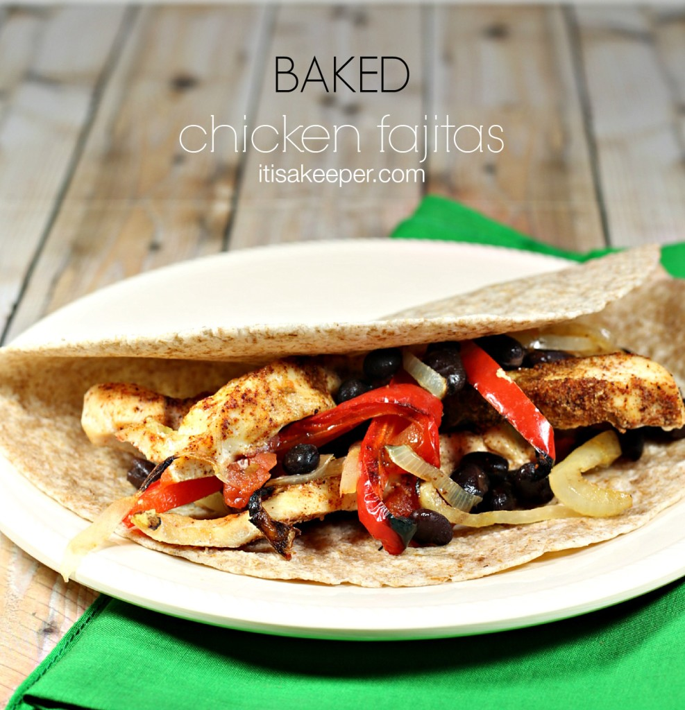 Baked Chicken Fajitas from It's a Keeper