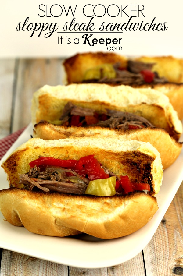 low Cooker Sloppy Steak Sandwiches - It's a Keeper