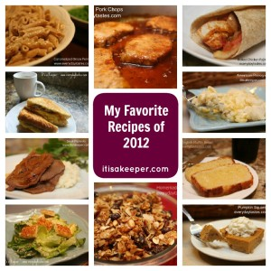 Favorite Recipes of 2012 It's a keeper