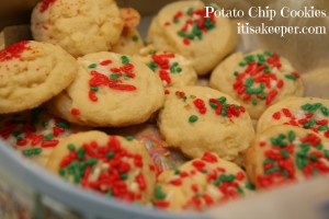 Potato Chip Cookies - an easy cookie recipe that is the perfect combination of salty and sweet