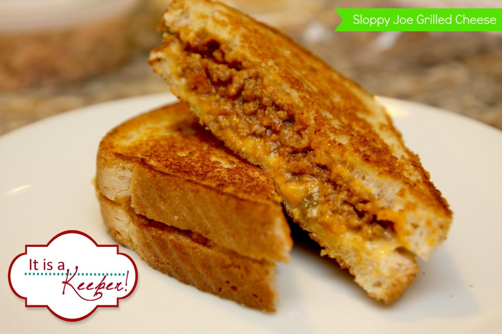 Sloppy Joe Grilled Cheese It's a Keeper