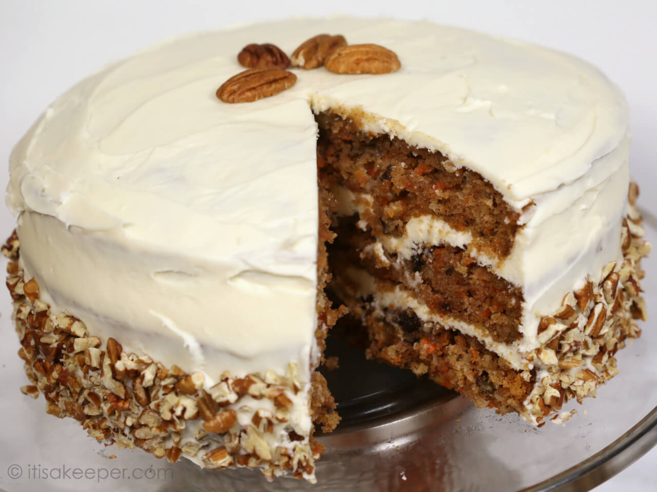 Homemade Carrot Cake Recipe - this is one of the BEST carrot cake recipes I have ever tried
